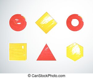 Gouache geometric shapes