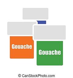 gouache, lata, icono