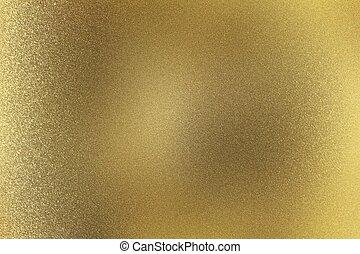 goud, abstract, metaal muur, textuur, achtergrond, geborstelde