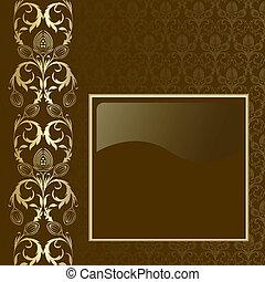 goud, achtergrond, bruine