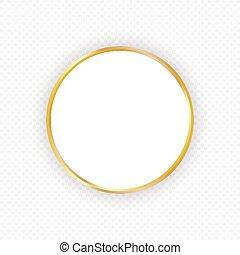 goud, achtergrond., frame, uitnodigingen, cirkel, transparant, elegant, vector, ontwerp, mal, schaduw, information., kaarten