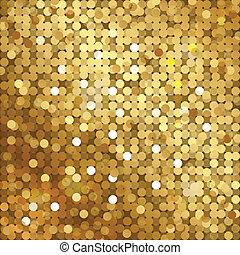 goud, achtergrond, sequins