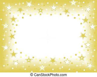 goud, achtergrond, ster