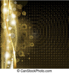 goud, achtergrond, sterretjes, luxe