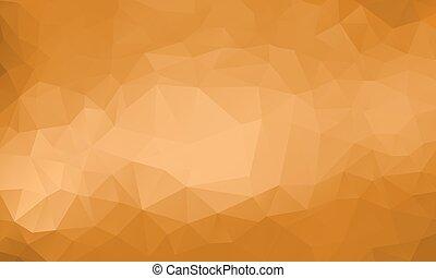 goud, achtergrond, veelhoek