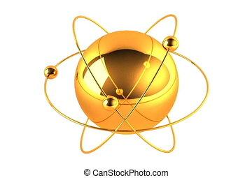 goud, atoom