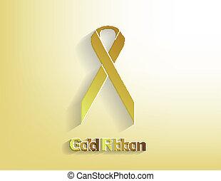 goud, bewustzijn, lint
