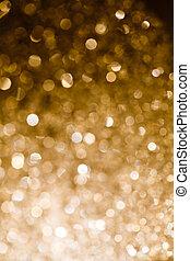 goud, bokeh, licht