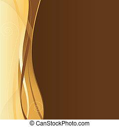 goud, bruine , bedrijfszaak, web, mal, met, kopie, space.