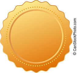 goud, certificaat, leeg