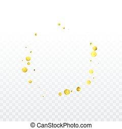 goud, confetti, celebration.