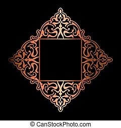 goud, decoratief, achtergrond, 2309, black