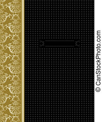 goud, &, dekking, ontwerp, luxe, black