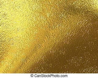 goud, folie