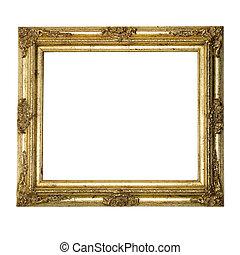 goud, fotolijst