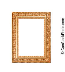 goud, frame, op, een, witte achtergrond