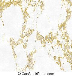 goud, hoogtepunten, textuur, elegant, achtergrond, marmer