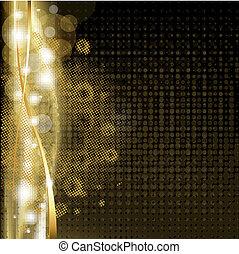 goud, luxe, achtergrond, met, sterretjes