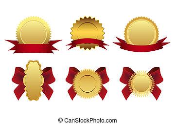 goud, medailles