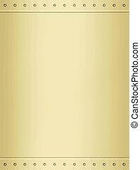 goud, metaal, achtergrond, textuur
