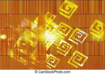 goud, ontwerp, symbool