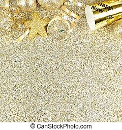 goud, op, eva, jaren, achtergrond, nieuw, grens