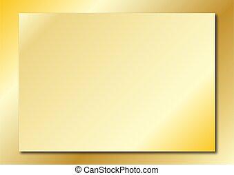 goud, plaque