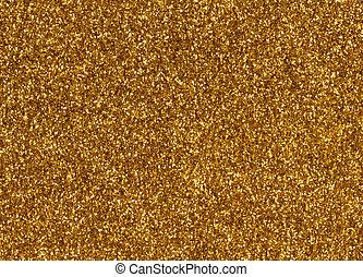 goud, schitteren, macro, textuur, dichtbegroeid boven, achtergrond.