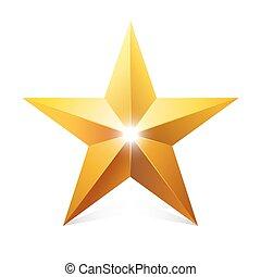 goud, star.