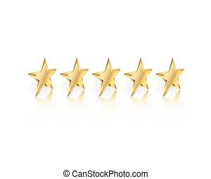 goud, sterretjes, bovenkant