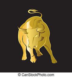 goud, stier