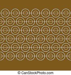 goud, vector, model, spandoek, cirkel