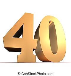 gouden, 40
