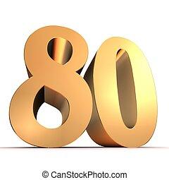 gouden, 80, -, getal