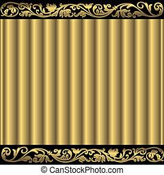gouden, abstract, achtergrond