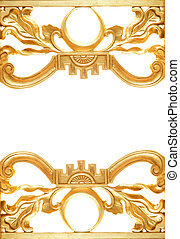 gouden, abstract, grens