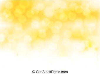 gouden, abstract, illustratie, effects., lichten, vector, achtergrond onduidelijk