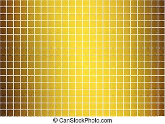 gouden, abstract, model, (vector)