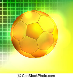 gouden, abstract, voetbal, backgro, bal