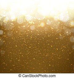 gouden achtergrond, met, bokeh