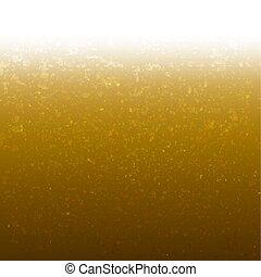 gouden achtergrond, met, schitteren