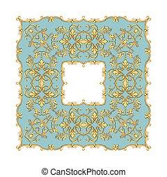 gouden, barok, frame, 3