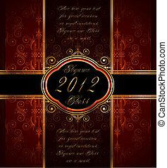 gouden, behang, seamless, versiering, elegant, boete