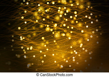 gouden, blurry, textuur