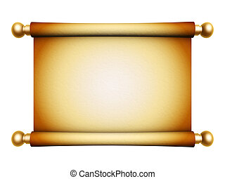 gouden, boekrol, perkament