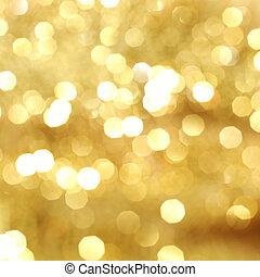 gouden, bokeh