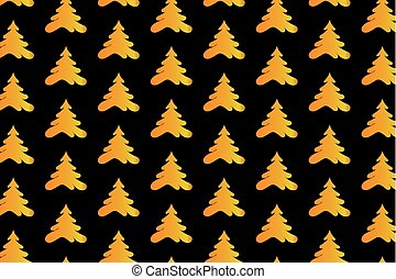 gouden, boompje, achtergrond, black