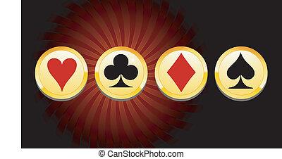 gouden, casino, spandoek