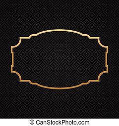 gouden, classieke, frame, achtergrond, textured, grens
