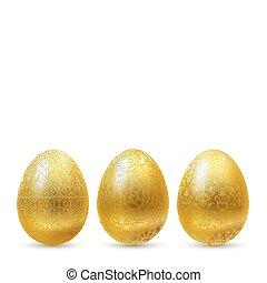 gouden, eggs.